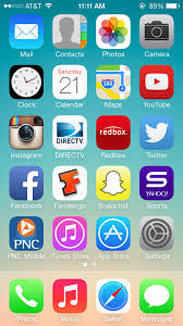 iphone 5s home screen