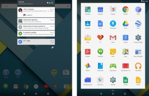 nexus 9 lollipop screens