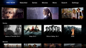 Hbo now interface