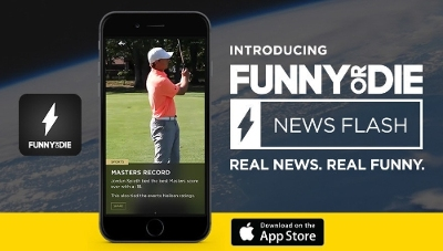 funny or die news flash banner